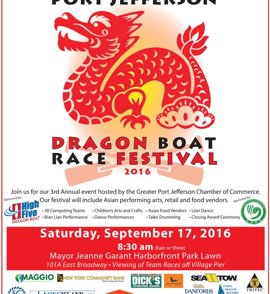 Port Jeff Dragon Boat Race Festival Flyer 2016