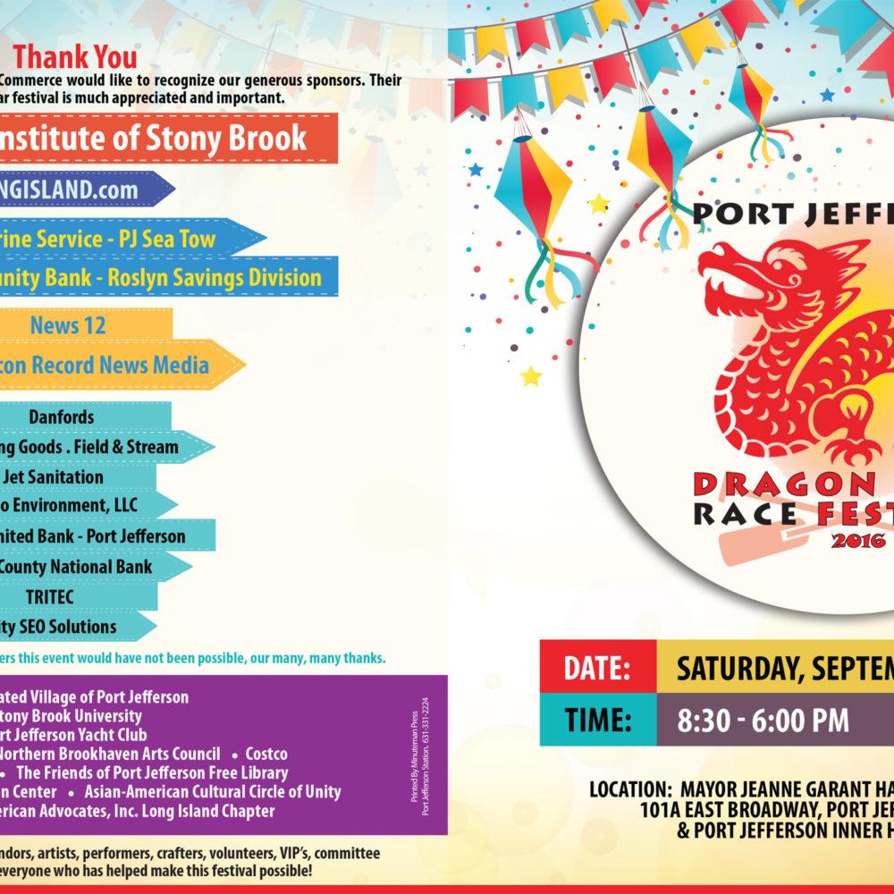 Port Jeff Dragon Boat Race Festival Program
