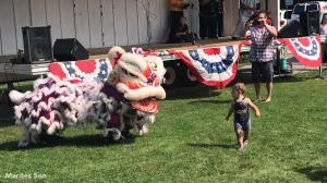 Lion Dance performance