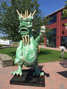 Dragon infront of Village Center