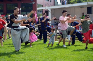 Tai Chi demo with audience PJ DragonFest2015